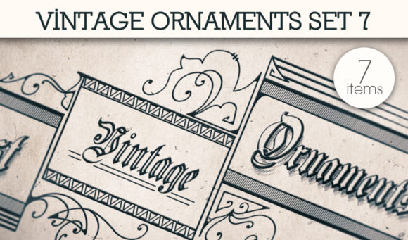 Vintage Ornaments Vector Pack 7 products designious vintage ornaments 7 small