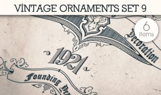 Vintage Ornaments Vector Pack 9 Floral [tag]