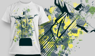 T-shirt Design 858 T-shirt Designs and Templates vector
