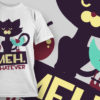 T-shirt Design 879 T-shirt Designs and Templates vector