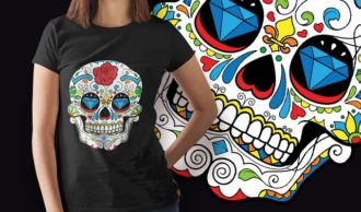 Free Vector Sugar Skull Sample Freebies vector