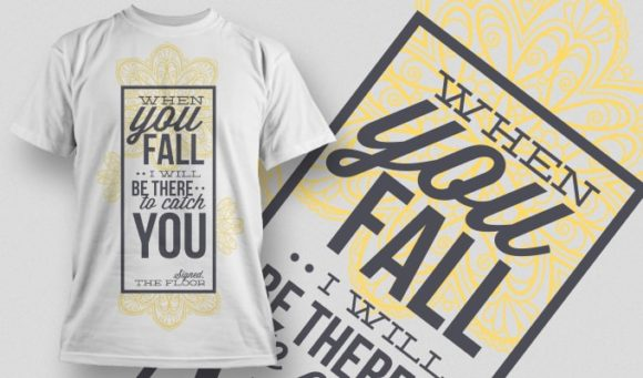 When You Fall I Will Catch You Free Typography Design – 1000 Freebies vector