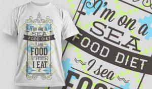 T-shirt Design 1005 T-shirt designs and templates vector