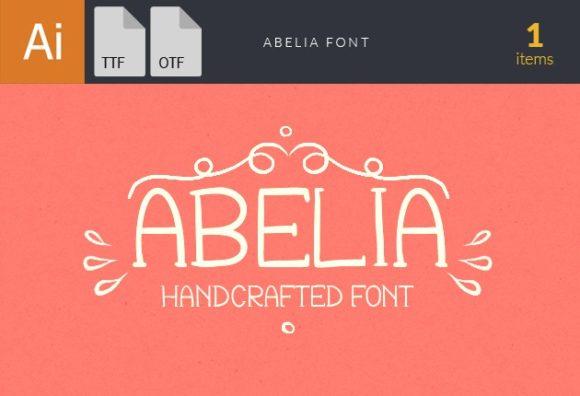 Abelia Handcrafted Font Fonts font