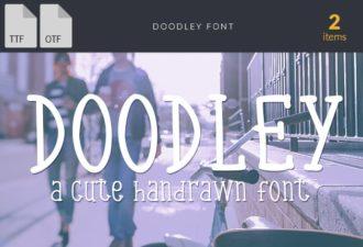 Doodley Extended Font Fonts doodle