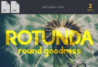 Rotunda Extended Font Fonts font