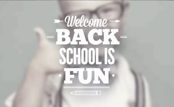 Back to school typographic elements Freebies label