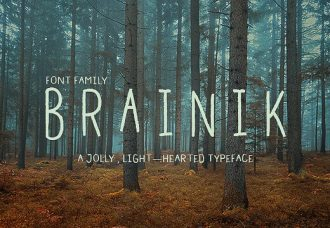 Brainik Font Family Freebies light