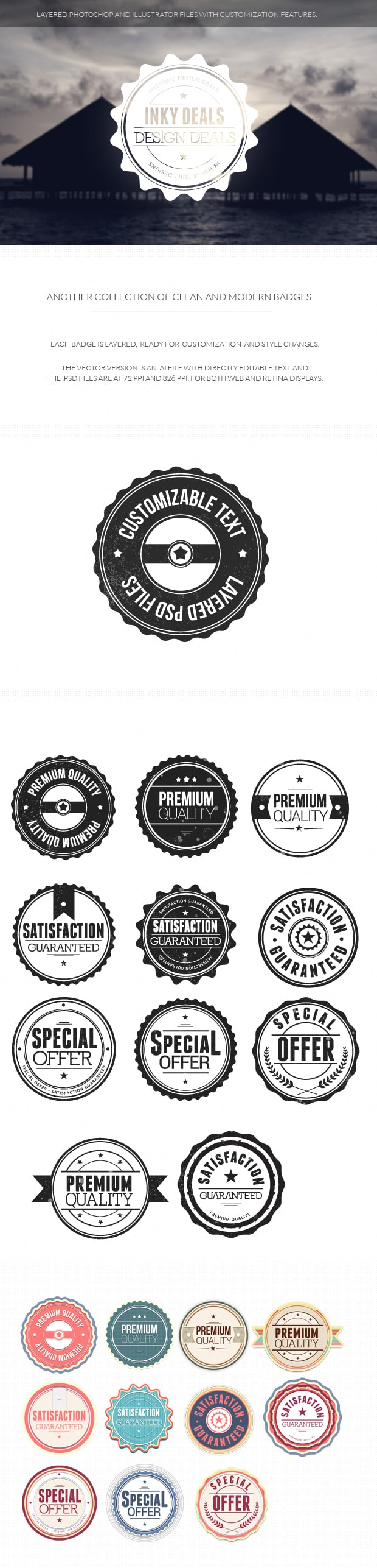 Clean and Modern Badges set 2 clean and modern 2