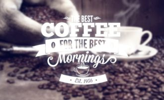 Coffee typographic elements Freebies vintage