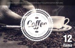 Coffee badges set 1 Freebies coffee