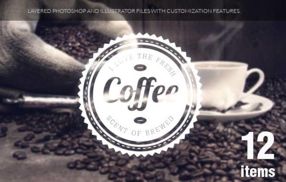 Coffee badges set 1 5