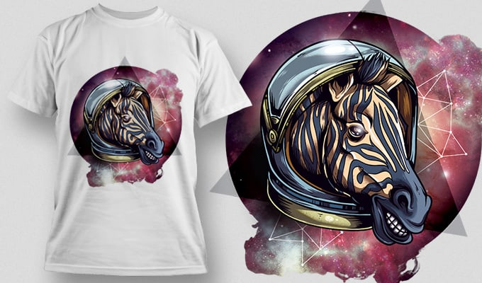 T-Shirt Design Plus – Cosmic Zebra T-shirt designs and templates vector
