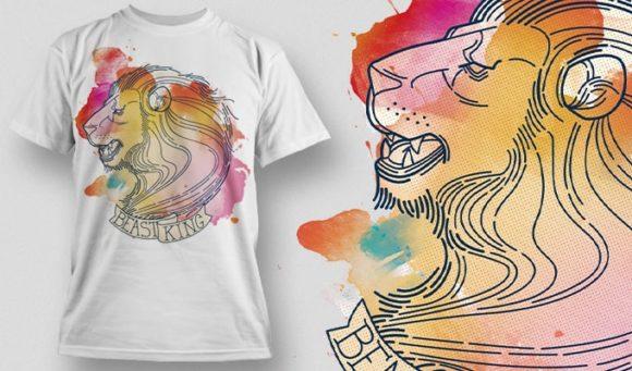 T-Shirt Design Plus - Lion 5