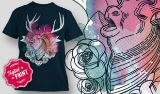 T-Shirt Design Plus – Stag T-shirt Designs and Templates vector