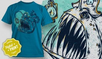 T-Shirt Design Plus – Angler T-shirt Designs and Templates vector