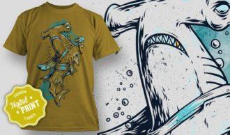 T-Shirt Design Plus – Shark T-shirt Designs and Templates vector