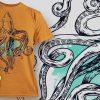 T-Shirt Design Plus - Squid 3