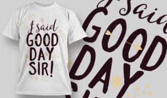 T-Shirt Design 1271 T-shirt Designs and Templates vector