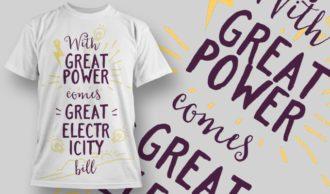 T-Shirt Design 1307 T-shirt Designs and Templates vector
