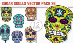 Sugar Skulls Vector Pack 36 Vector packs halloween