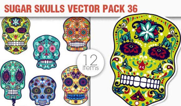 Sugar Skulls Vector Pack 36 1