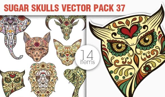Sugar Skulls Vector Pack 37 1