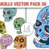 Sugar Skulls Vector Pack 39 designious vector sugar skulls 38 small