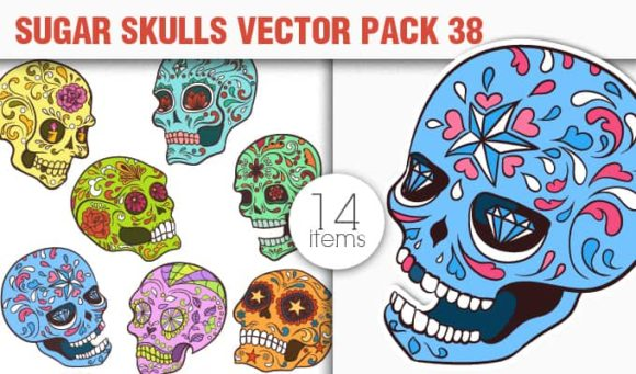 Sugar Skulls Vector Pack 38 designious vector sugar skulls 38 small