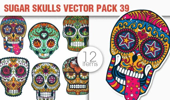 Sugar Skulls Vector Pack 39 designious vector sugar skulls 39 small
