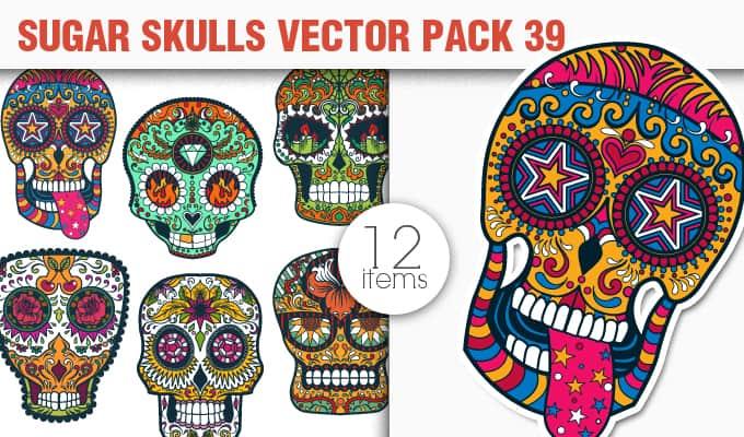 Sugar Skulls Vector Pack 39 Vector packs halloween
