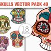 Sugar Skulls Vector Pack 39 designious vector sugar skulls 40 small