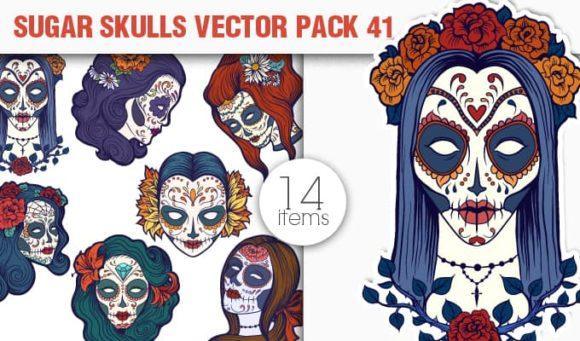Sugar Skulls Vector Pack 41 1