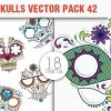 Sugar Skulls Vector Pack 47 designious vector sugar skulls 42 small