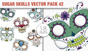 Sugar Skulls Vector Pack 42 Vector packs halloween