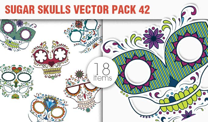 Sugar Skulls Vector Pack 42 Vector packs halloween