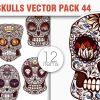 Sugar Skulls Vector Pack 45 Vector packs halloween
