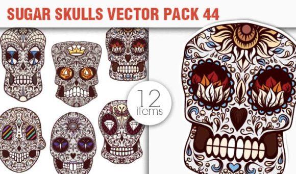 Sugar Skulls Vector Pack 44 designious vector sugar skulls 44 small