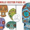 Sugar Skulls Vector Pack 44 designious vector sugar skulls 45 small