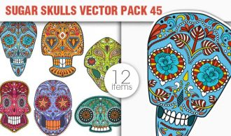 Sugar Skulls Vector Pack 45 Vector packs halloween
