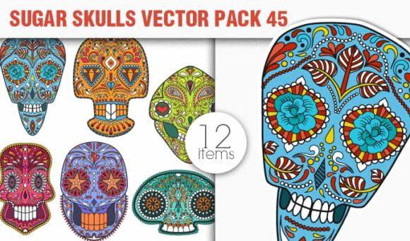 Sugar Skulls Vector Pack 45 1