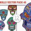 Sugar Skulls Vector Pack 44 designious vector sugar skulls 46 small