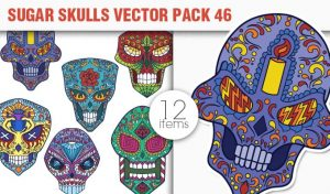 Sugar Skulls Vector Pack 46 Vector packs halloween