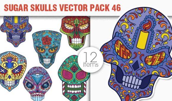 Sugar Skulls Vector Pack 46 designious vector sugar skulls 46 small