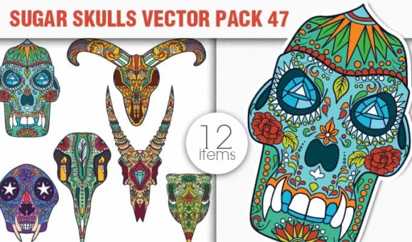 Sugar Skulls Vector Pack 47 designious vector sugar skulls 47 small