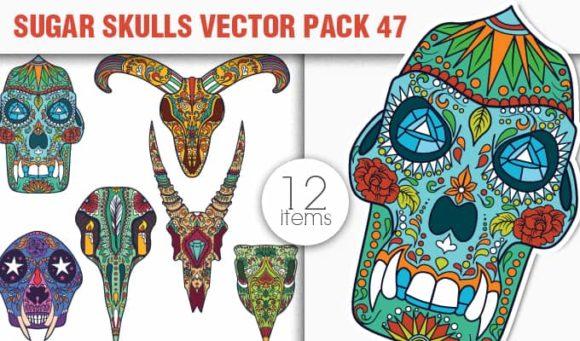 Sugar Skulls Vector Pack 47 1