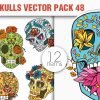 Sugar Skulls Vector Pack 48 1
