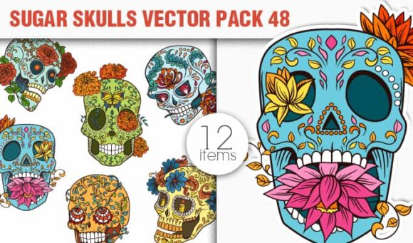 Sugar Skulls Vector Pack 48 1
