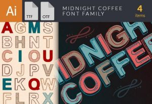 Midnight Coffee Font Fonts font