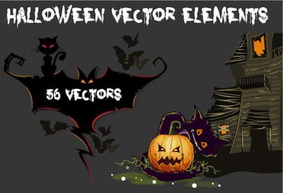 Halloween vector Elements designtnt halloween vector elements small 1